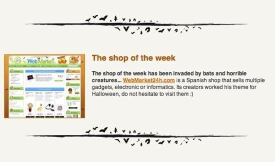 WebMarket 24H v.Halloween - Web de la semana